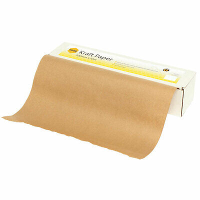 Marbig 70m x 50cm 65GSM Kraft Paper Dispenser Box Wrapping/Packing w/ Roll