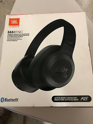 JBL E65BTNC Wireless Over-Ear Noise-Cancelling Headphones with Mic and