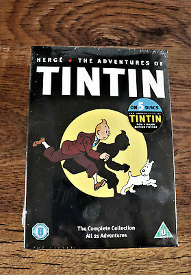 The Adventures Of Tintin (DVD, 2011, 5-Disc) New Sealed
