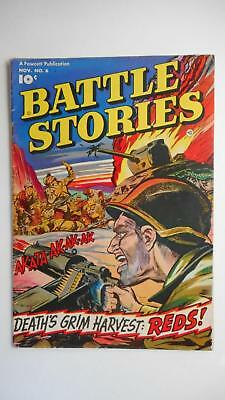 Battle Stories #6  Vg+ 4.5 (Fawcett 1952 Series) Great-Looking Cover