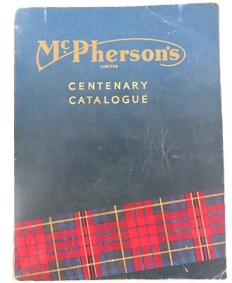 SUPER RARE 1960 McPHERSONS TOOL, ENGINEER, PUMP, MACHINE CENTENARY CATALOGUE.