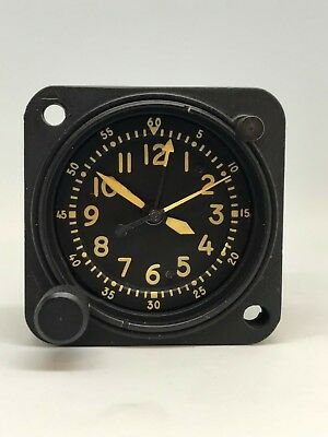 Vintage Waltham A13A-2 Military Aircraft Clock 20 Jewel Usaf Dash Clock