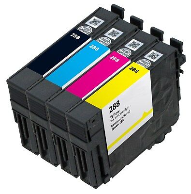 4 Pack of Remanufactured Epson 288 Ink Cartridge for XP-330 XP-340 XP-430 XP-440