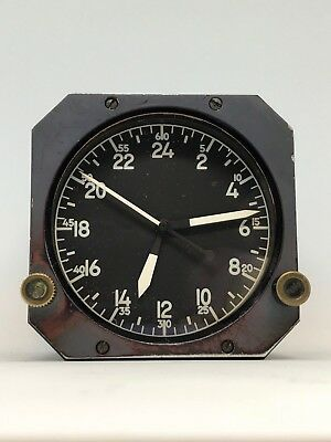 Jaeger LeCoultre 8-Day Aircraft Clock with White Internal Lighting Boeing Clock