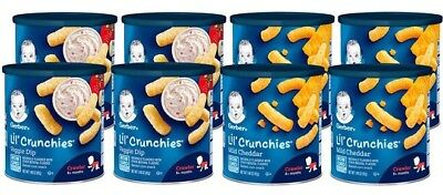 Gerber Lil' Crunchies,  Mild Cheddar and Veggie Dip, 8 Count, NON-GMO
