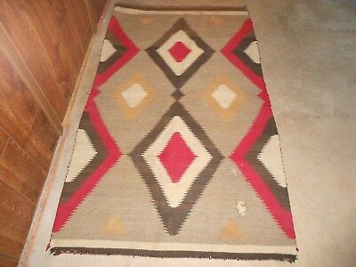Old Native American Blanket/rug. I Believe It's Navajo But Could B Another Tribe