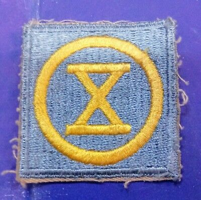 WWII 10th Infantry Division old pattern US Army patch 100% original Cotton