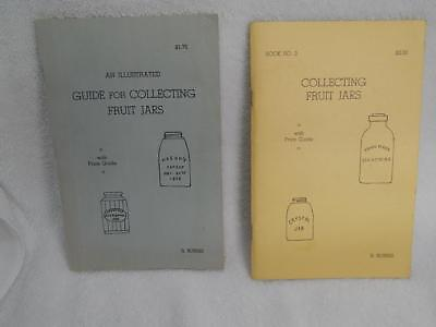 Vintage Antique Fruit Jar Price Guide Book Ronald Burris Volumes 1&2 1960's
