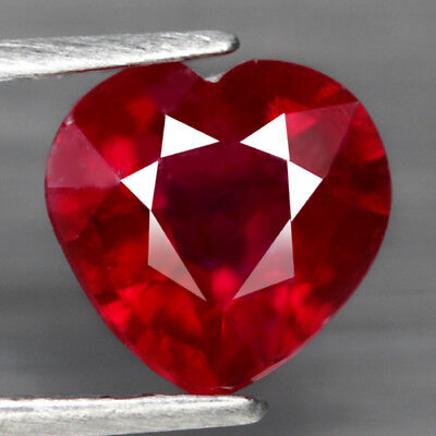 3.02Ct. Fabulous! Heart Facet Top Blood Red Natural Ruby Madagascar