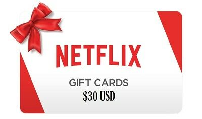 Netflix Gift Cards - 35% Off - Fast Delivery - $30 $50 $60 $100 - WORLDWIDE