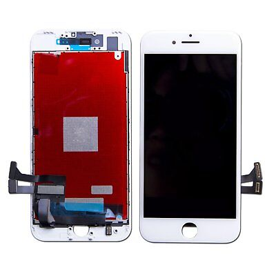 Touch Screen Lcd Display Retina Per Apple Iphone 7 Vetro Schermo Bianco + Frame