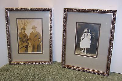 """pair of Antique photos in 8.5"""" X 10.5"""" in non-vintage picture frames"""