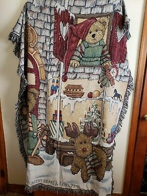 Boyds Bears Tapestry Throw
