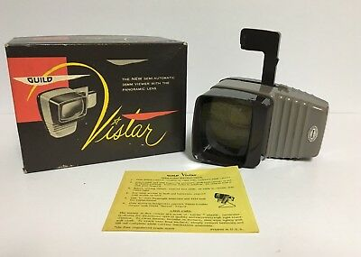 Vtg Guild Vistar 35MM Viewer with Panoramic Lens In ORIGINAL BOX w/instructions