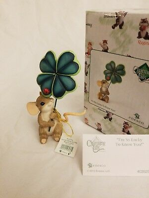 """Enesco Charming Tails """"I'M SO LUCKY TO KNOW YOU"""" Dean Griff"""