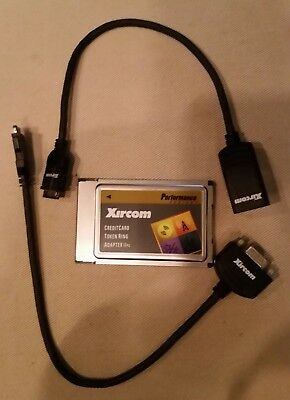 Xircom PCMCIA Token Ring Adapter IIPs with 2  Dongle Cables