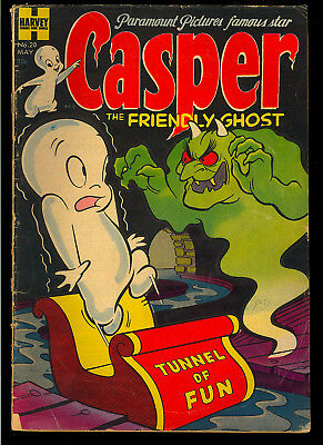 Casper the Friendly Ghost #20 Nice 1st App. Wendy Witch Harvey Comic 1954 GD-VG