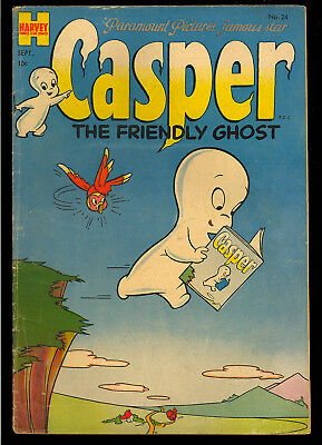 Casper the Friendly Ghost #24 Nice Infinity Cover Harvey Comic 1954 GD-VG