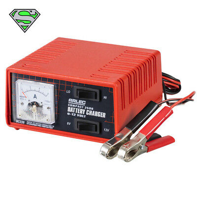 Genuine Arlec® Battery Charger PRO 6 & 12V 2.5 Amp (Trickle Charge Car Charger)