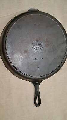 Rare, Transitional, Griswold Cast Iron Skillet, Size 12, 719D