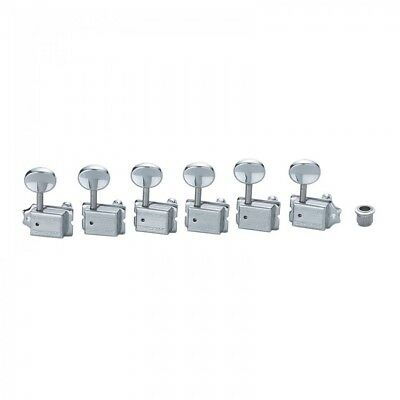 *NEW Wilkinson Deluxe 6InLine EZ-LOK Locking TUNERS 15:1 Chrome WJ55CR (EZ POST)