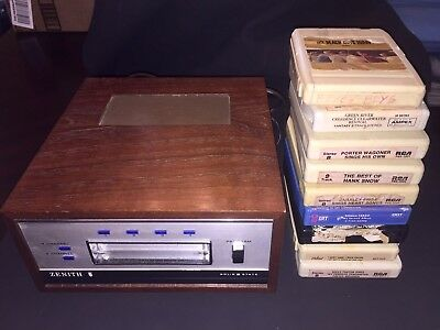 Vintage 4-CHANNEL ZENITH 8 TRACK PLAYER D762W with tapes Beach Boys CCR Quadroph