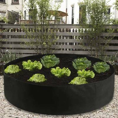 50Gallon Fabric Raised Garden Bed Large Round Planting Container Flower Grow Bag