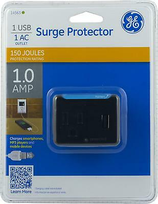 GE Surge Protector 1 USB & 1 AC Outlet 1.0 Amp with 150 Joules Protect (14563)