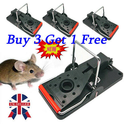 Spring Rat Mouse Trap Rodent Pest Easy Control Bait Traps Catcher Killer Cheese