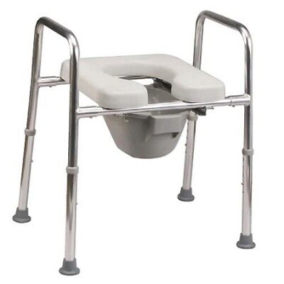 Eagle Health 34654 Snap N Save 4 in One Commode Padded Raised Shower Seat NEW