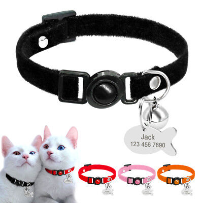 Soft Breakaway Cat Collars with ID Tag Quick Release Safety for Kitten Small Dog