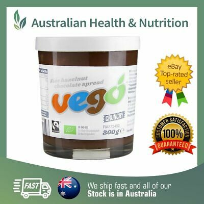 Vego Spread Crunchy Hazelnut Chocolate Spread - Raw, Vegan & Gluten Free