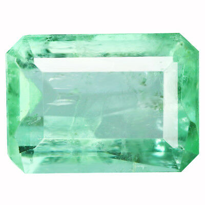 1.94Ct Charming Octagan cut 9 x 7 mm 100% Natural Neon Green Colombian Emerald