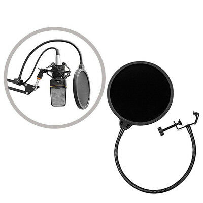 Double Layer Studio Recording Microphone Wind Screen Mask Pop Filter Shield