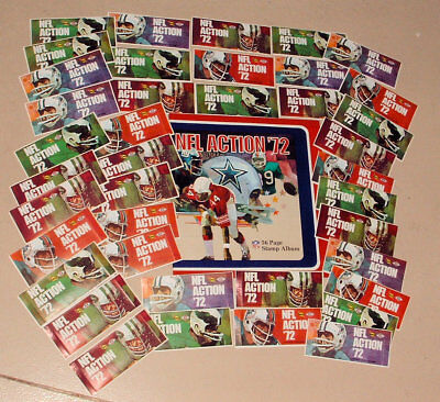 1972 SUNOCO DX GAS STATION NFL STAMPS  MINT COLLECTION w BOOK 40 SEALED PACKS