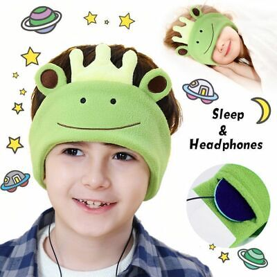 Kid Comfy Headphones Headband On Ear Earphones Jack Unicorn Sleep Mask Kids