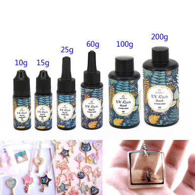 Epoxy UV Resin Clear Glue DIY Ultraviolet Curing Gel For Jewelry Making 10-200g