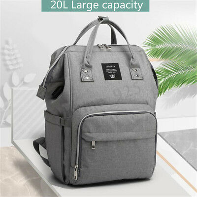 LEQUEEN Baby Diaper Bag Mummy Maternity Nappy Travel Handbag USB Port Backpack