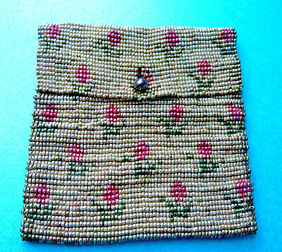Antique Fully Metal Beaded Small Purse
