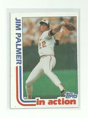 Jim Palmer 1982 Topps #81 In Action Baseball Card