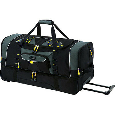 """36"""" 2-Section Rolling Duffel Bag with Blade Wheels Carry-On for Travel Sports"""