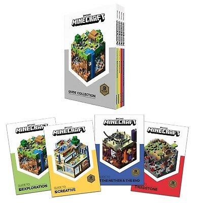 NEW Minecraft Mojang Guide Collection 4 Books Box Set with Hard Slipcase