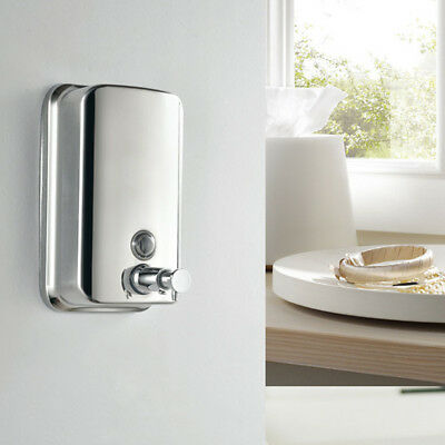 Stainless Steel Commercial Grade Polished Wall Mounted Lotion Soap Dispenser