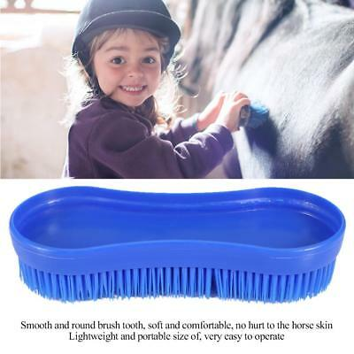 Blue Horse  Cleaning Grooming Body Silicone Brush Equestrian Massage Tool