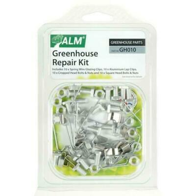 Greenhouse Fixing Repair Kit Spares Parts 10x W / Z Clips / Square Nuts / Bolts