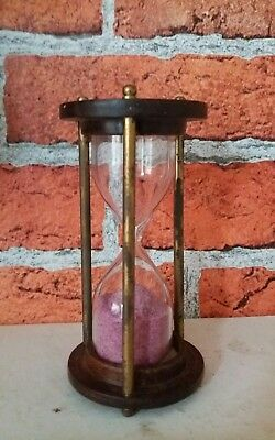 Vintage Style Wooden Hourglass Sand Glass Timer Sand Clock Watch Ross London