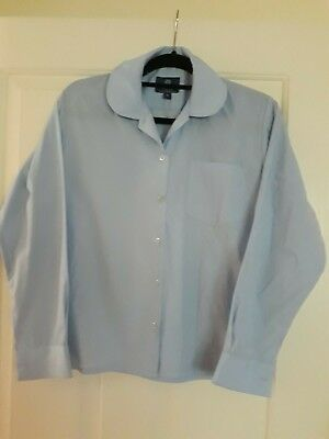 2x Radford college Girls Yr 7-10 Winter long sleeve pale blue shirts size 14