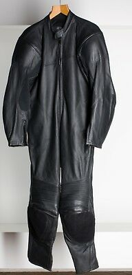 Black Race Leathers One Piece Suit British Made Super Quality Protectors By Gear
