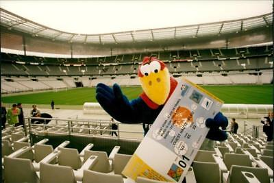 Football World Cup in France 1998. World Cup Ticket and Mascot - Vintage photo