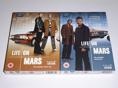 Life On Mars: The Complete Series 1 & 2 Collection - UK DVD SET EXC COND One Two